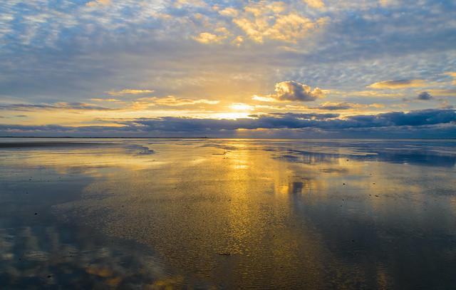 golden sunset sky