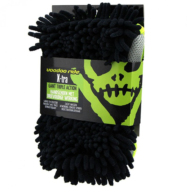 Voodoo Ride Extra Wash Mitt - Glove with 3 functions