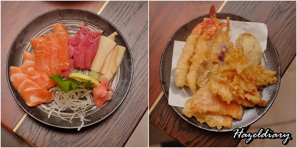 Food Capital - Grand Copthorne Waterfront Hotel -Sashimi and Tempura