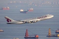 A7-BGA, Boeing 747-8F, Qatar Cargo, Hong Kong