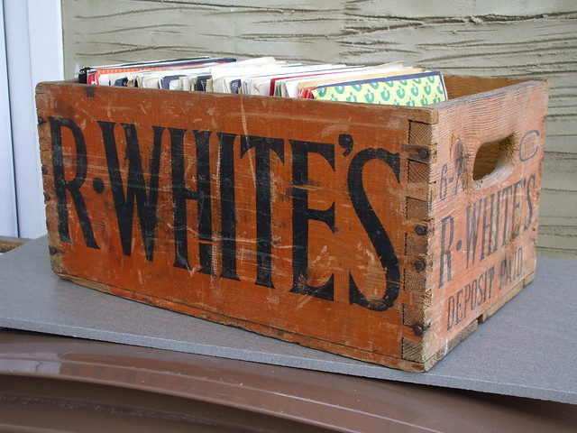 Vintage R.White's Lemonade Wooden Shipping Crate Advertising Box