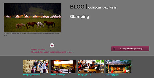 Glamping is an important tourism and hospitality type that is closely related to experiential tourism; providing hedonic, educational, escapist and aesthetic experiences for glampers.