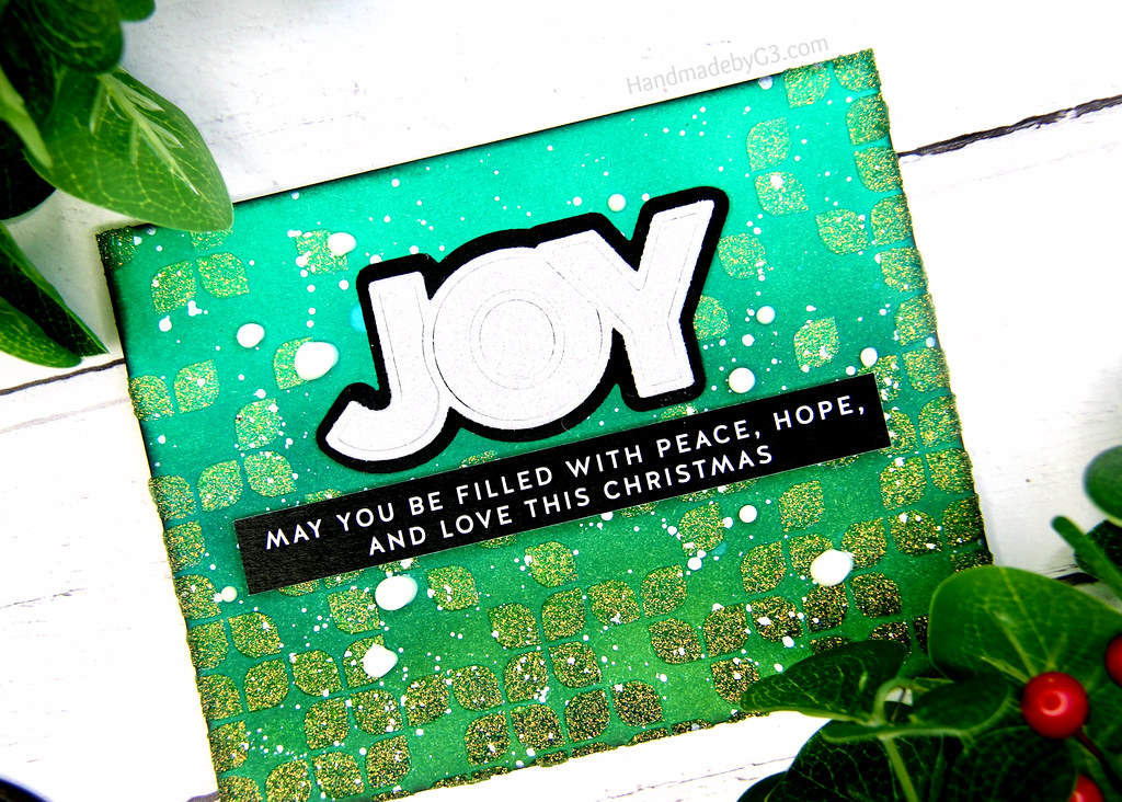 Joy card closeup