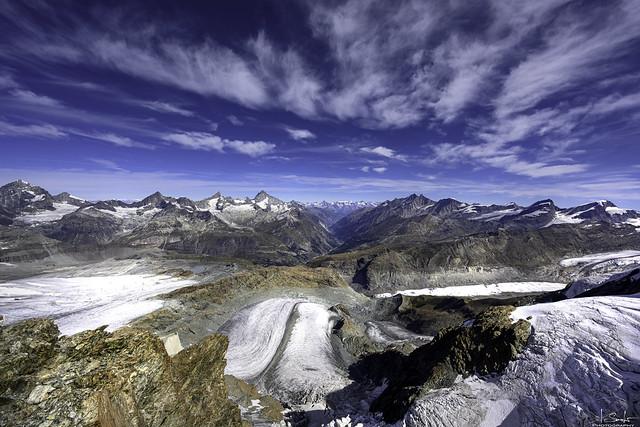 Mountain panorama from Klein Matterhorn - Zermatt - Wallis - Switzerland