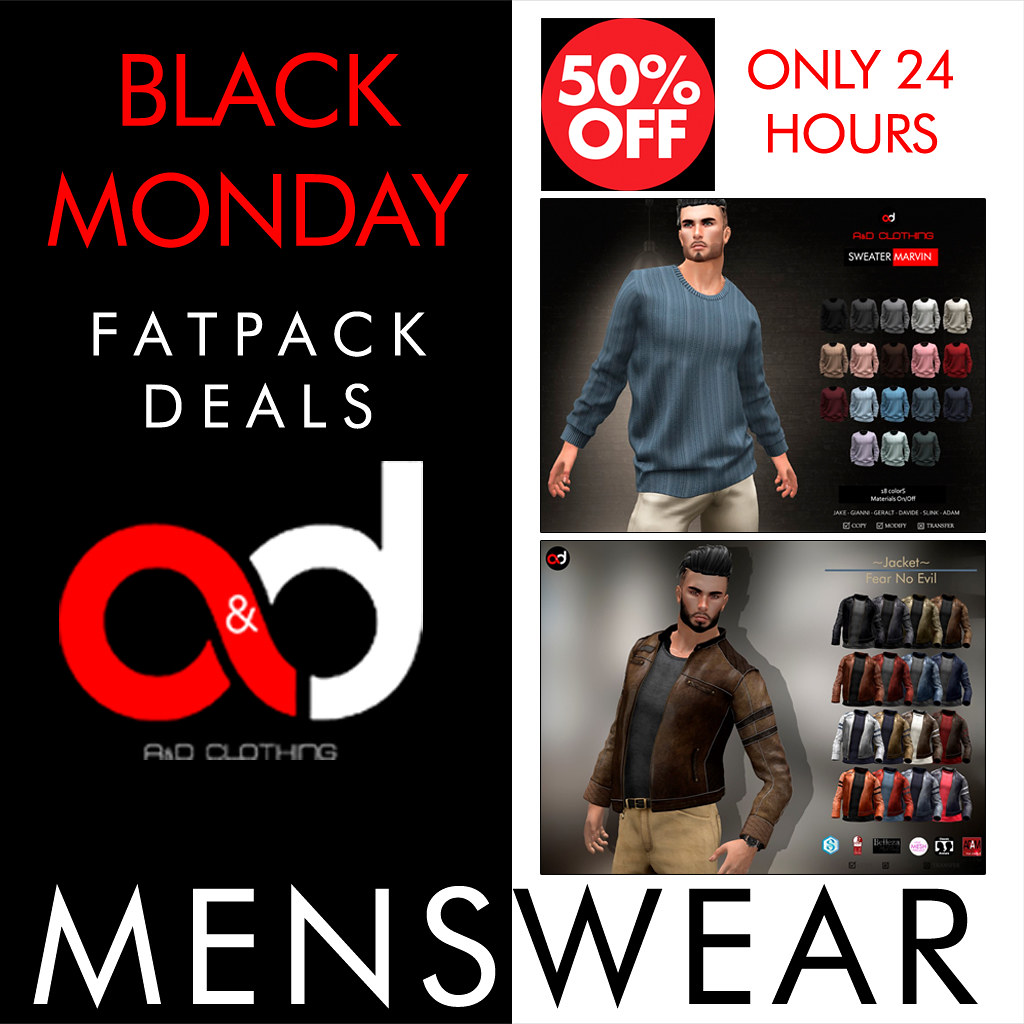 ! A&D Clothing – Black Monday 50% Off