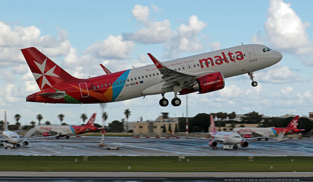 9H-NED LMML 22-11-2020 Air Malta Airbus A320-251N CN 10106