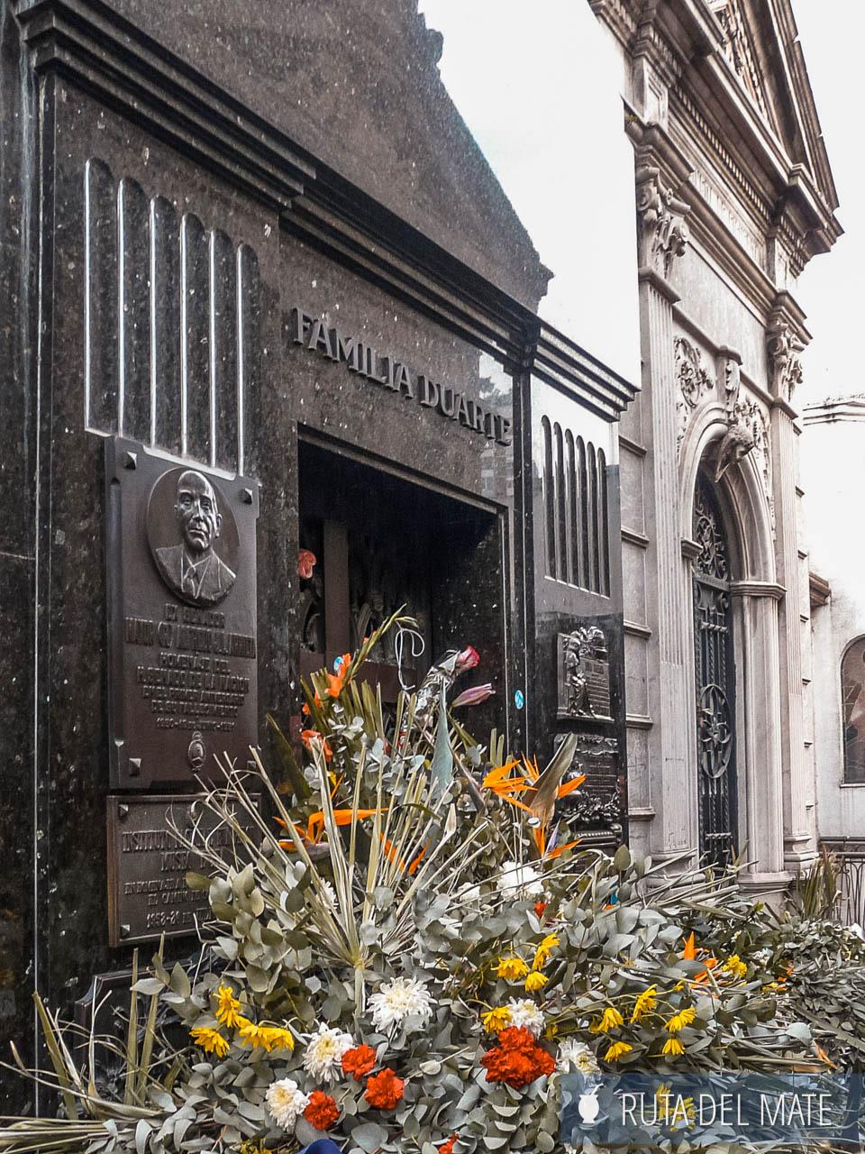 Cementerio de la Recoleta, mausoleo de Evita Perón