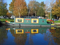 Colourful reflection at Paper Mill Lock, Little Baddow, Essex
