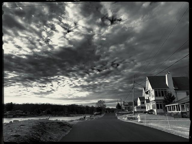Town Road at Dusk