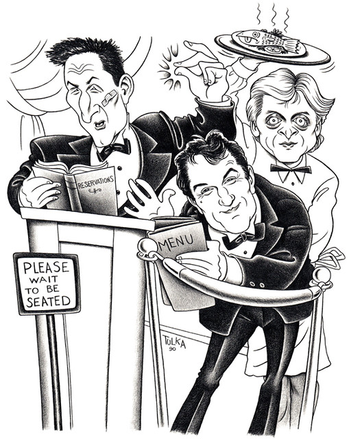 Sean Penn, Robert De Niro, Mikhail Baryshnikov (The New York Daily News 1990)