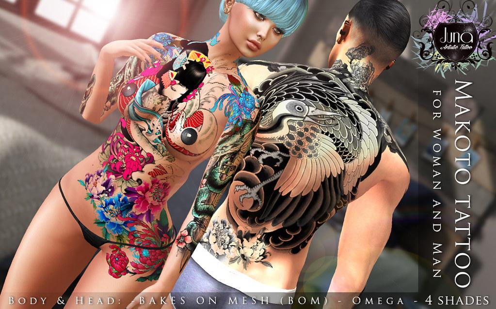 Makoto tattoo Unisex