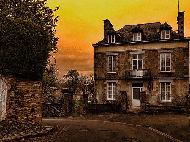 Maison de village, Bretagne.
