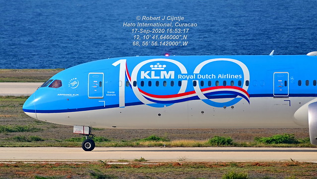 KLM, Boeing 787-10, PH-BKA, TNCC, 17-SEP-2020