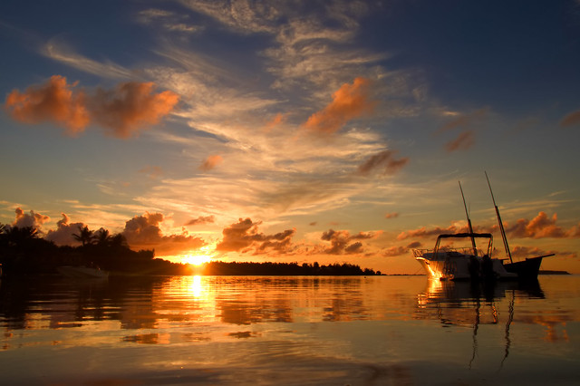 Sunset in Grand Gaube - Mauritius