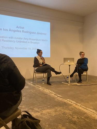 New work by María de los Àngeles Rodríguez Jiménez & artist conversation with Amy Rosenblum-Martín