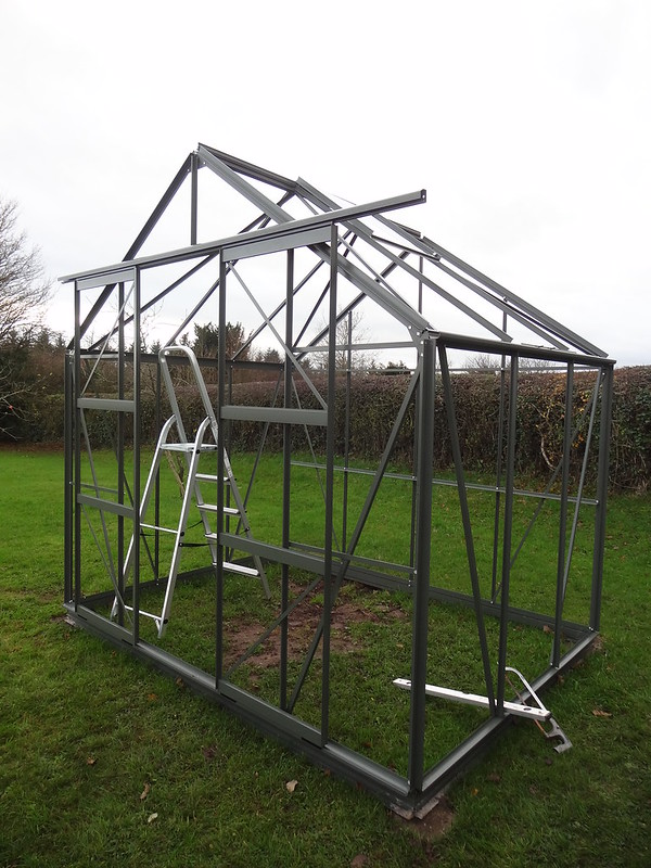Greenhouse construction, part 5