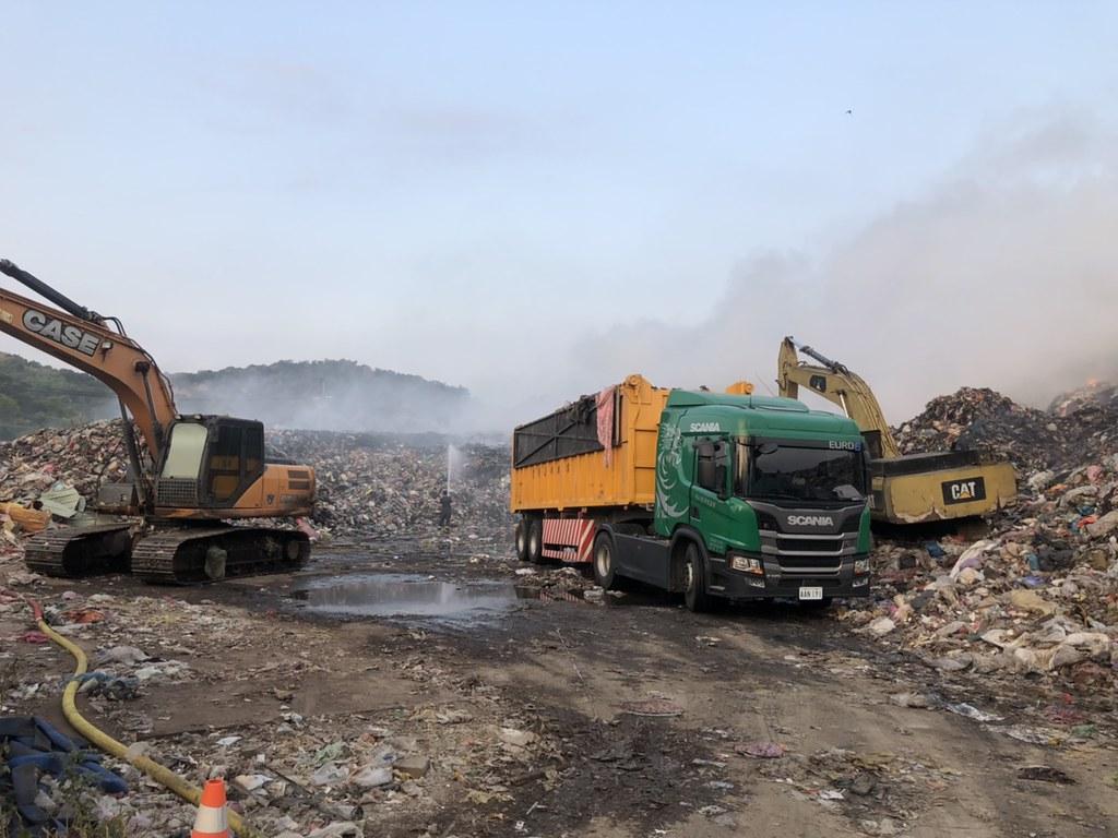 環保署協調垃圾外運。照片提供:環保署