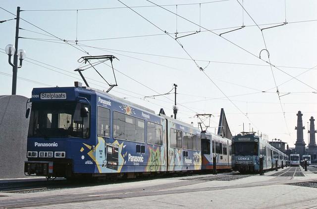 Trams at Stelplaats, Oostende