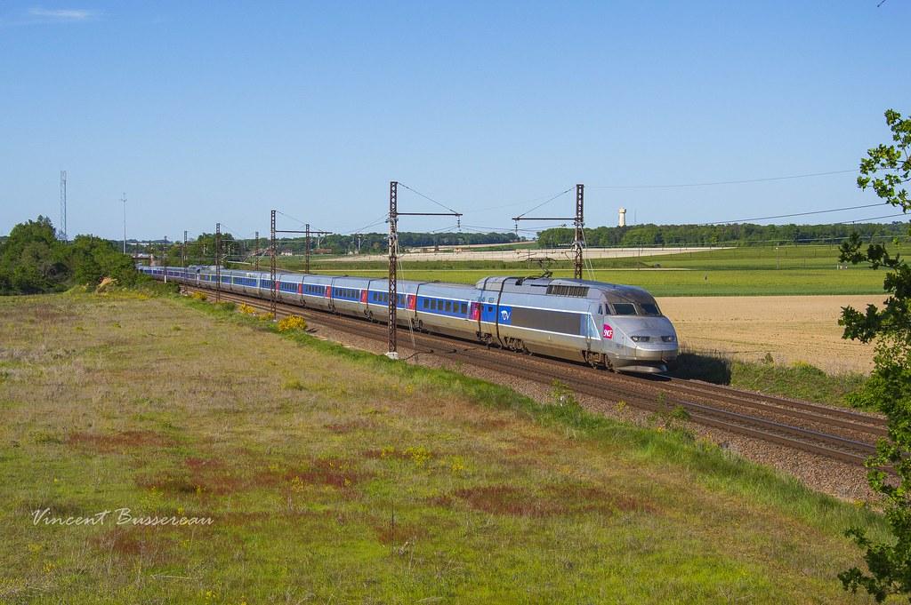 14-05-19 Rames A 356 - 390 & TGV 8489 Paris Montparnasse - Bordeaux St Jean