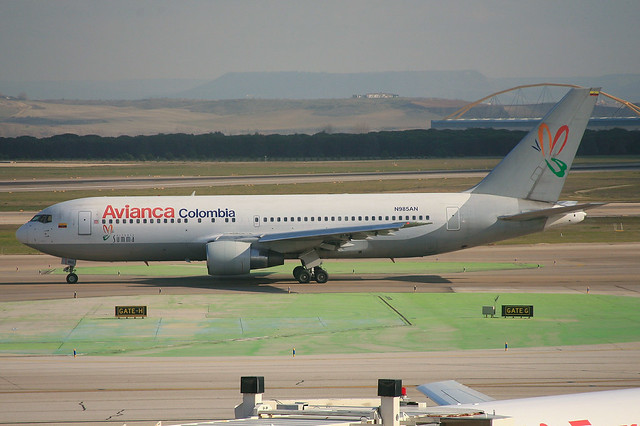 N985AN, Boeing 767-259(ER) Avianca Colombia @ Madrid-Barajas MAD LEMD