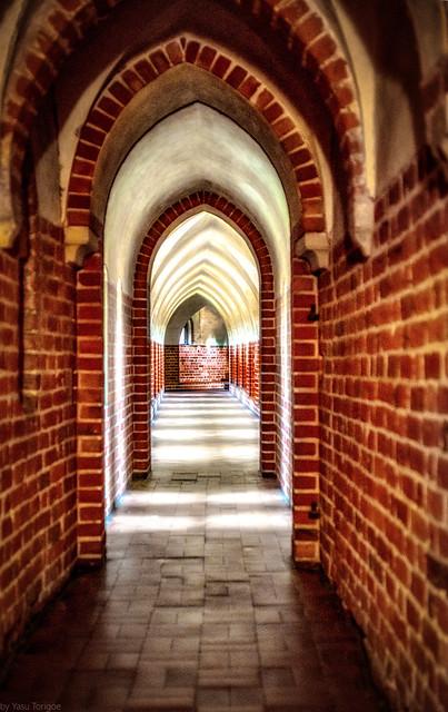 Malbork Castle: long hallways of the Upper castle, Malbork, Poland.  273-Edita