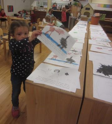 assembling her book