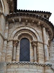 Chevet, église romane Saint Martin de Tours (XIe siècle), Frómista, Tierra de Campos, province de Palencia, Castille-León, Espagne.