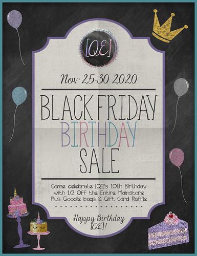 [QE] Black Friday Birthday Poster