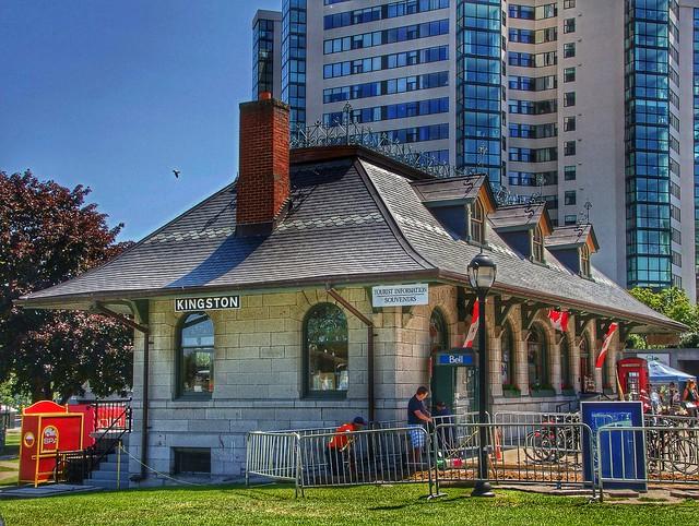 Kingston Ontario - Canada - Old Kingston & Pembroke Railway Station -  Now a tourism office