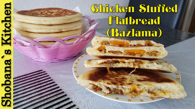Chicken Stuffed Turkish Flatbread (Bazlama) Recipe By Shobana`s Kitchen