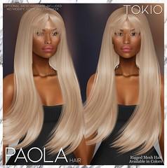 TOKIO Hair - PAOLA - Happy Weekend L$60 @Mainstore!!