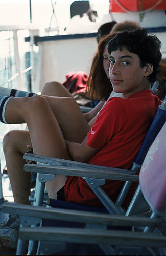 Young Man on a Ferry