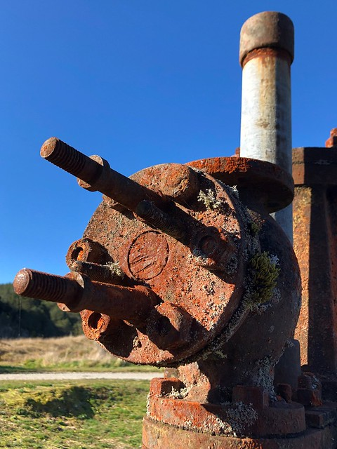Waiuta: rusting equipment (2) - steam hammer