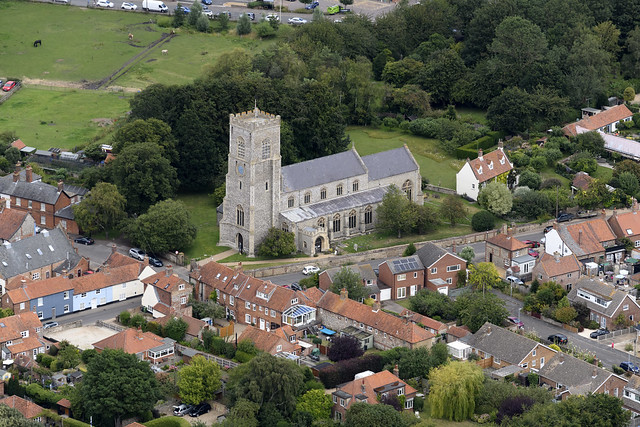 Wells-next-the-Sea aerial image - St Nicholas Church