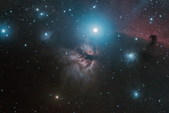 NGC 2023 & IC 434 The Flame Nebula and Horsehead Nebula in Orion. 221120