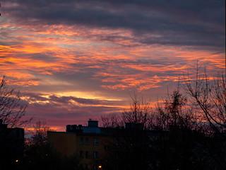 Zachod słońca Chrzanów