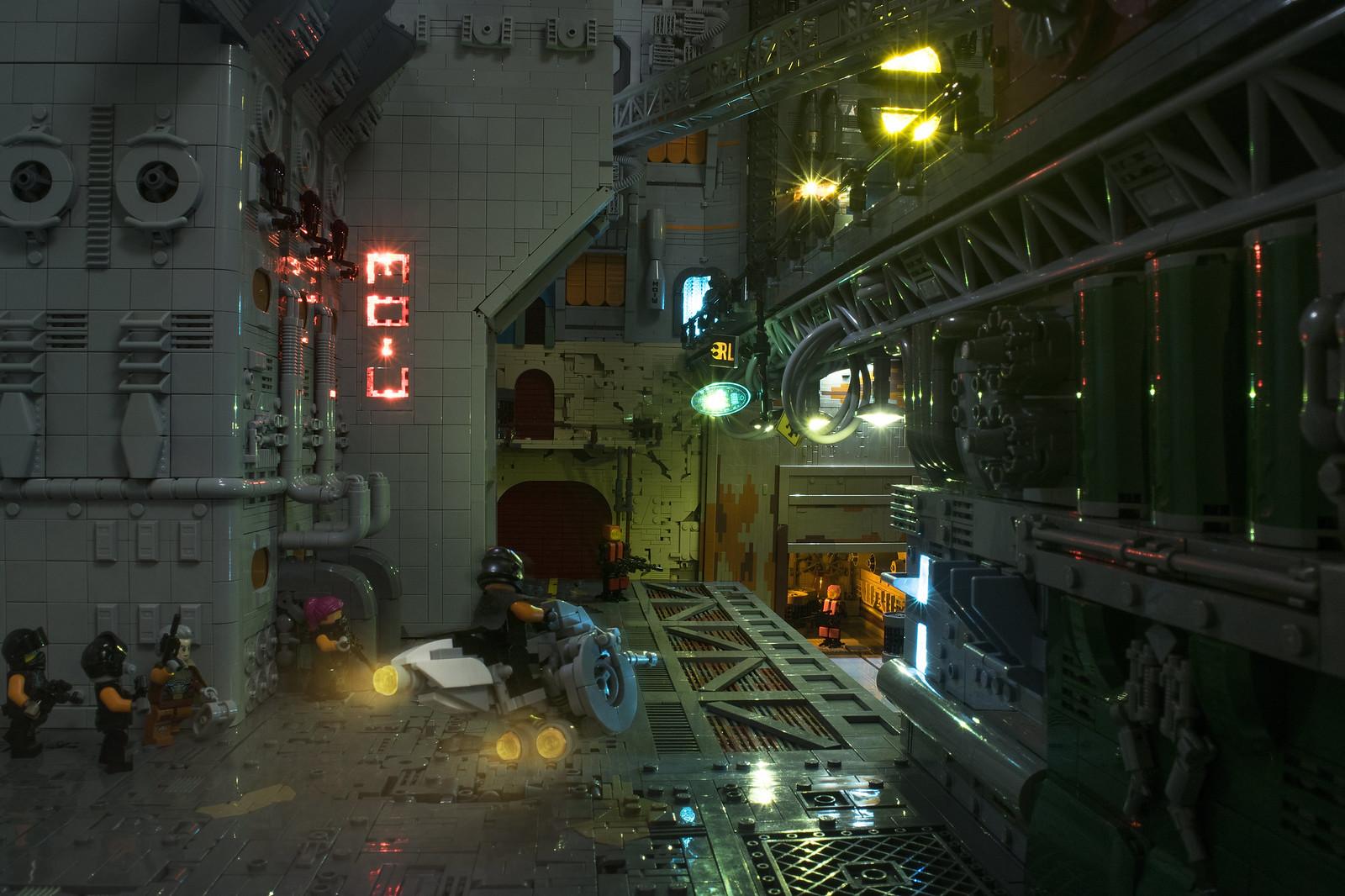 LEGO Cyberpunk Industrial Zone