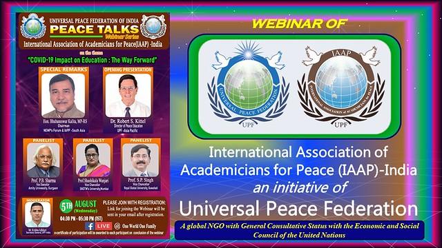 India-2020-08-05-UPF-India Hosts 'Peace Talks' on COVID-19's Impact on Education