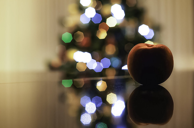 The peach...