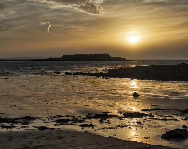 Fort Raz, Alderney. Hazy Sunrise