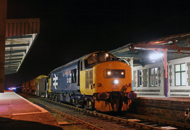 37425 'Pride Of The Valleys/Balchder Y Cymoedd' stands at Barmouth during engineering works on the Cambrian Coast line.