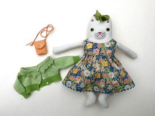 White Kitty in a Party dress