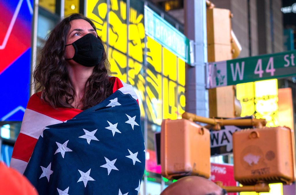 Biden Harris Election 2020 Celebration in Times Square