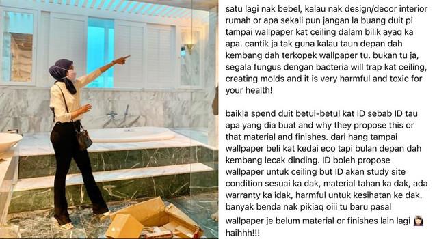 Netizen 'Berbalah' Tengok Mural Siling Hasil Tangan Hanis Zalikha