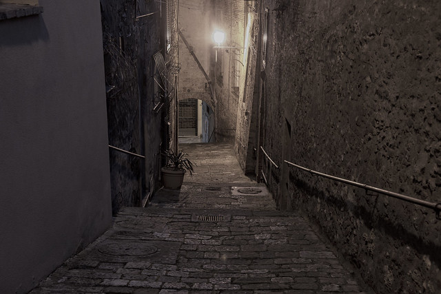 Downhill Alley in Montepulciano