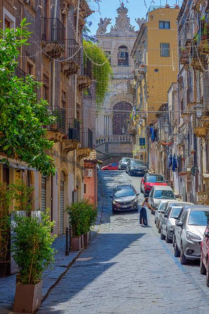 Street in Catania, Sicily