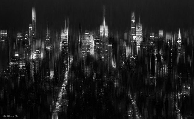 MaNHattaN NigHt EssENcE (monochrome)