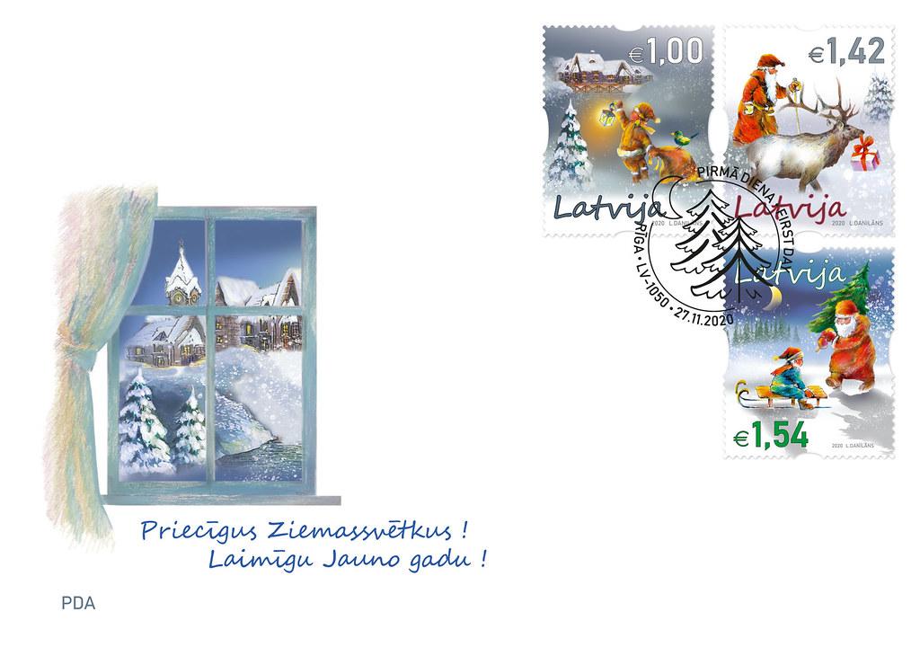 Ziemassvētku sērijas aploksne 2020.gadā - Latvijas Pasts - Flickr
