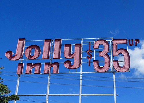 GA, Valdosta-Jolly Inn Neon Scaffold Sign