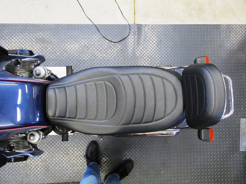 Finished Seat And Seat Back Mounted On Cookie Monster